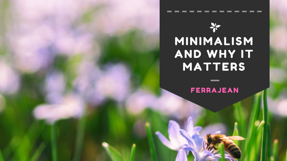 minimalism and why it matters
